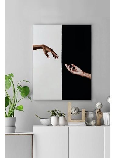 MarkaEv Canvas Siyah Beyaz El Tablo 0113 Renkli